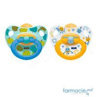 Suzeta NUK latex Happy Kids 6-18 luni in cutie (734011)