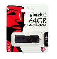 cumpără 64GB USB2.0  Kingston DataTraveler 104 Black, Stylish black casing with a sliding cap design (Read 18 MByte/s, Write 10 MByte/s) în Chișinău