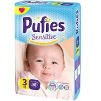 Pufies scutece Sensitive 3, 4-9 kg, 66 buc.