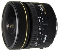 Prime Lens Sigma AF   8mm f/3.5 EX DG CIRCULAR FISHEYE F/Nik