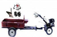 Set motocultivator TECHNOWORKER HB 700RS PRO+Remorca RK500 + plug simplu + roti metalice 4*8 + prasitoare