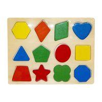 Puzzle incastru Figuri geometrice, cod 119622