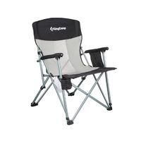 купить Стул-кресло складное для туризма и отдыха KM3825 BLACK/GREY (1008) в Кишинёве
