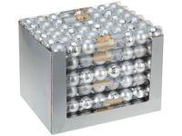 Набор шаров 8X50mm, серебряные (мат/глянц), в тубе