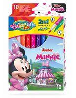 Set de carioci 2 în 1, 10 culori- Colorino Disney Minnie Mouse