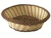 Корзинка для хлеба плетеная круглая D21cm, H7cm
