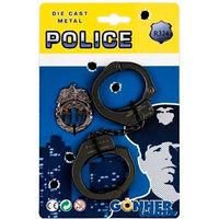 Set de Poliţie: cătușe și Insigna, cod 43569