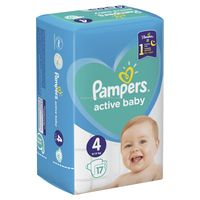 Pampers Active Baby 4 (9-14 кг.) 17 шт.