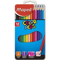 MAPED Карандаши цветные MAPED, 12 цветов, мет. бокс