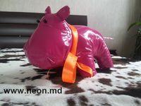мягкая игрушка бегемотик розовый