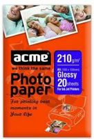 ACME Photo Paper A6 (10x15cm) 210 g/m2 20 pack Glossy