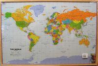Карта мира EN 90 x 60 cm