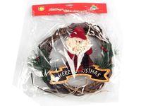"""купить Украшение венок """"Merry Christmas"""" с Дедом Морозом D23cm в Кишинёве"""