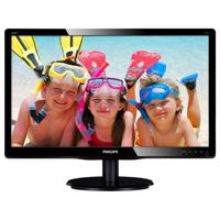 "19.5"" Philips ""200V4LAB2"", G.Black (1600x900, 5ms, 200cd, LED10M:1, DVI, 2x2W)"