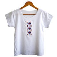 Женская футболка с ручной вышивкой - Воловэц