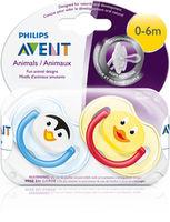 Пустышки силиконовые ортодонтические Philips AVENT (0-6 мес) 2 шт
