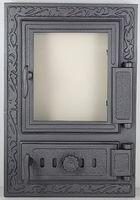 Дверца чугунная со стеклом правая FPM2R