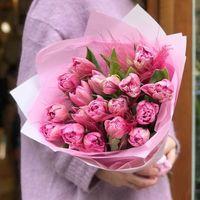 Букет из 19 пионовидных тюльпанов