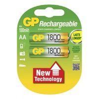 купить Аккумулятор GP Rechargeable AA 1.2V 1800 mAh (180AA U2) (2шт) в Кишинёве