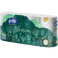 GRITE - Туалетная бумага BLOSSOM 3 слоя 8 рулона 18,75м