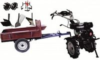 Set motocultivator TECHNOWORKER HB 700RS ECO+Remorca RK500 + plug reglabil + plug simplu + plug cartofi + roti metalice 4*8 + prasitoare