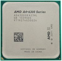 """APU AMD A4-6300 (3.7-3.9GHz, L2 1MB, 65W,32nm,Radeon HD 8370D),Socket FM2,Tray AMD A4-6300 APU with Radeon™ HD 8370D, DirectX 11, 760 MHz and has 128 Radeon cores"""