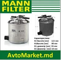 WK9008 MANN Фильтр топливный DACIA RENAULT 1.5dCi