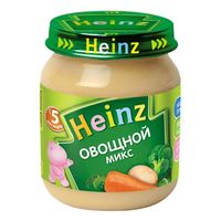 Heinz пюре овощной микс  5+мес. 120г