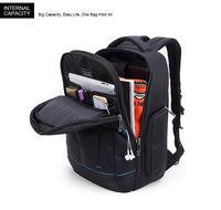 """Классический влагозащищённый рюкзак для ноутбука до 15,6"""" Arctic Hunter 1500161, с отверстием для наушников, 22л."""