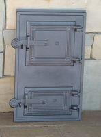 Дверца чугунная глухая правая со вставкой DPK11