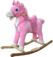 Baby Mix FL-XR015 Детская Лошадка-Качалка розовая