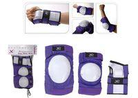 Набор защиты фиолет (наколенники+ налокотники, запястье