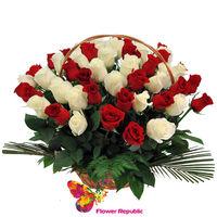 cumpără Trandafiri in cos - 51 buc în Chișinău