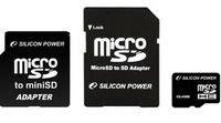 Карта памяти MicroSD Silicon Power SP008GBSTH004V10  8Gb