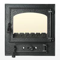 Дверца чугунная со стеклом Weekend - Rustic mijlociu