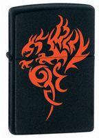 Zippo 21067 Hidden Dragon Black Matte