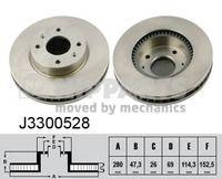 J3300528 Диск тормозной передний ELANTRA 2000-2006
