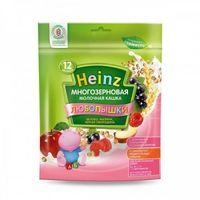 Heinz Любопышки каша многозерновая молочная яблоко, малина, черная смородина, 12+мес. 200г