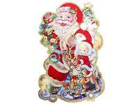 """купить Картинка-декор на окно/стену """"Дед Мороз к нам идет"""" 90cm в Кишинёве"""