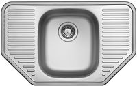 Кухонная  мойка  UKINOX  777  488  0.6  рифленная