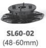 Podeste pentru plăci ceramice, baza cu sistem nivelare SL60-02 (48-60mm)