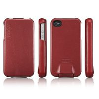 SGP Leather Case Argos Red for iPhone 4/4S