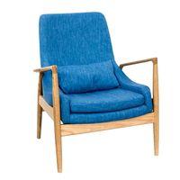 Деревянное кресло с тканевым сиденьем, 760x730x890 мм