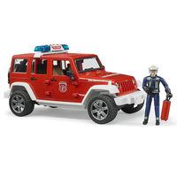 Пожарный джип Wrangler Rubicon с фигуркой пожарного, код 43272