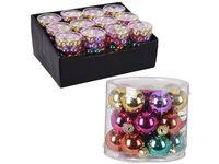 Набор шаров стеклянных 24X25mm, в цилиндре, разных цветов