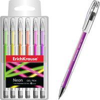 EKRAUSE Ручка гелевая EKRAUSE Neon 0.6мм, 6 цветов