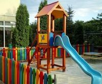 Детская площадка с одним спуском