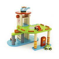 Viga jucărie din lemn garaj cu parcare