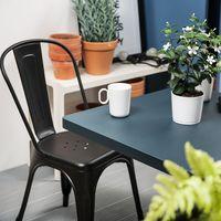 купить Металлический стул 530x480x1250 мм, матовый коричневый в Кишинёве