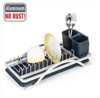 Сушилка для посуды из анодированного алюминия с держателем для столовых приборов Tatkraft Sky 10963